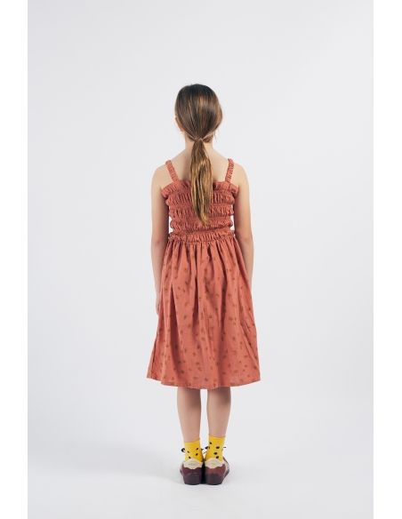 Bobo Choses - All Over Daisy Smoked Dress Brown - 5