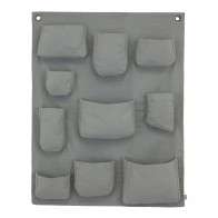 Wall Pocket silver grey