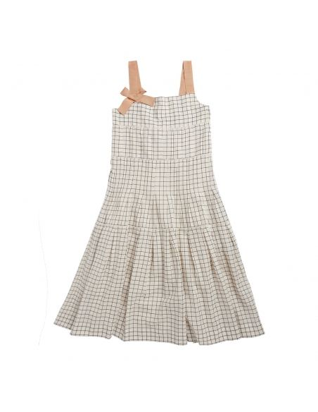 Caramel Baby & Child - Dress Angel Ecru With Black Check - 1