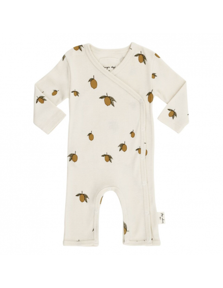 Konges Slojd - New Born Onesie Lemon white - 1