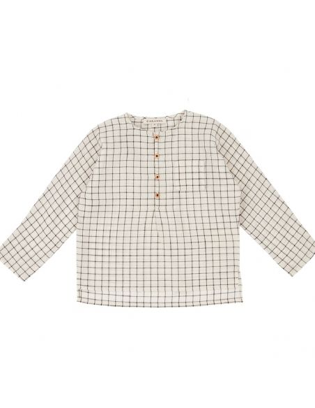 Caramel Baby & Child - Pimlico Baby Blusa ecru black check - 1