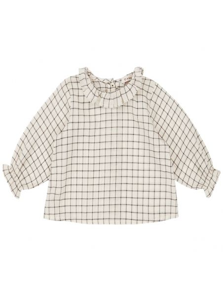 Caramel Baby & Child - Blouse Victoria Baby Ecru With Black Check - 1