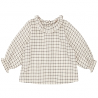 Blouse Victoria Baby Ecru With Black Check