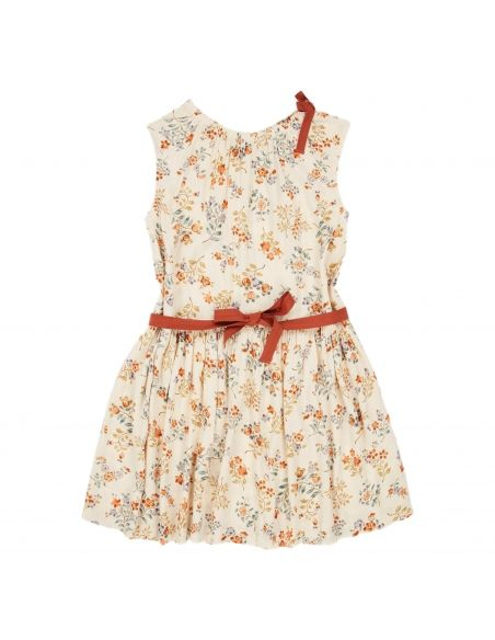 Caramel Baby & Child - Dress Notting Hill Ecru With Flowers - 1