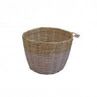 Basket rattan dusty pink
