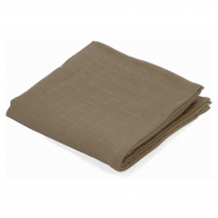 Big Musslin Swaddle Earth brown
