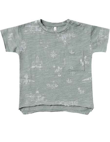 Rylee and Cru - T-shirt San Diego Raw Edge Zielony - 1