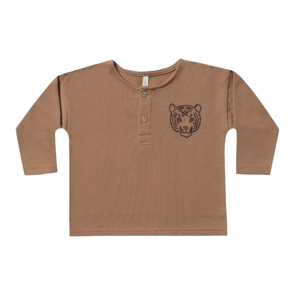 Rylee and Cru - Tiger Henley Sweatshirt Brown - 1