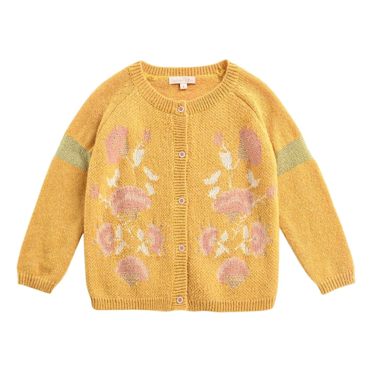 Louise Misha - Cardigan Pacolia moutarde - 1