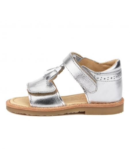 Young Soles - Buty Flo Leather Silver srebrne - 2