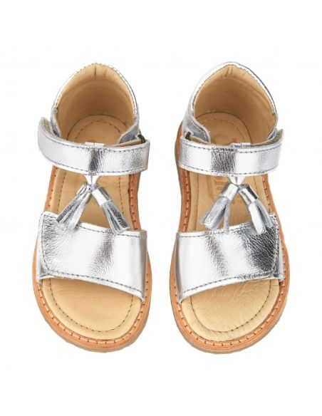 Young Soles - Buty Flo Leather Silver srebrne - 3