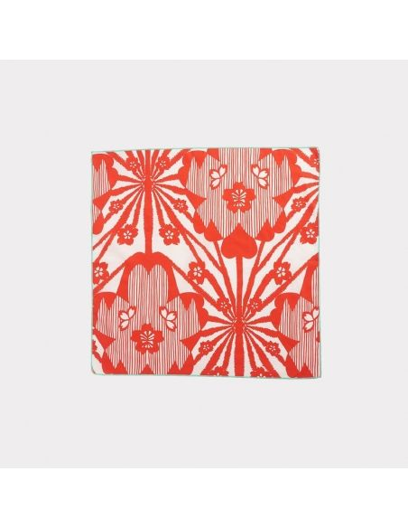 Caramel Baby & Child - Scarf With Red Flowers Print - 2
