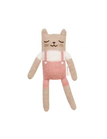 Main Sauvage - Kitten Soft Toy With Rose Overalls - 1