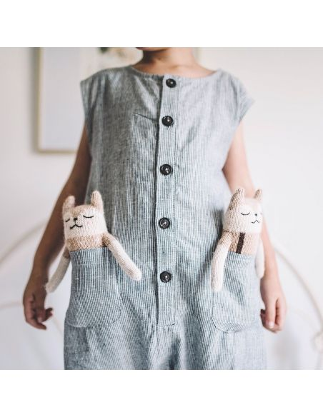 Main Sauvage - Fawn Soft Toy With Sand Blouse - 2