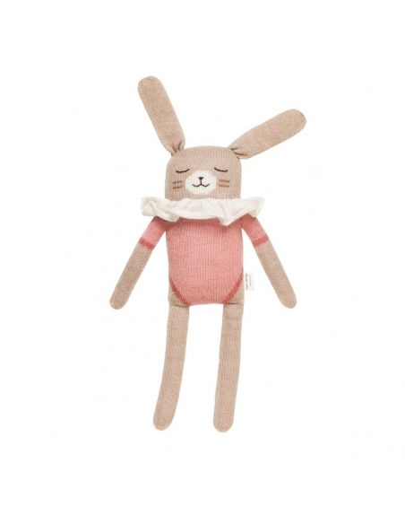Main Sauvage - Big Bunny Soft Toy With Pink Bodysuit - 1