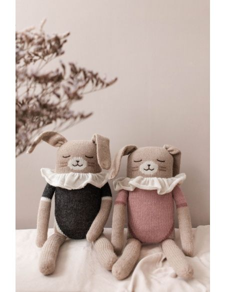 Main Sauvage - Big Bunny Soft Toy With Pink Bodysuit - 2