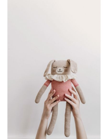 Main Sauvage - Big Bunny Soft Toy With Pink Bodysuit - 3