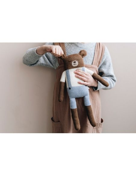 Main Sauvage - Big Teddy Soft Toy With Blue Shorts - 3