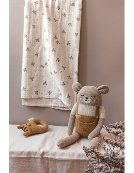 Main Sauvage - Big Teddy Soft Toy With Mustard Shorts - 2