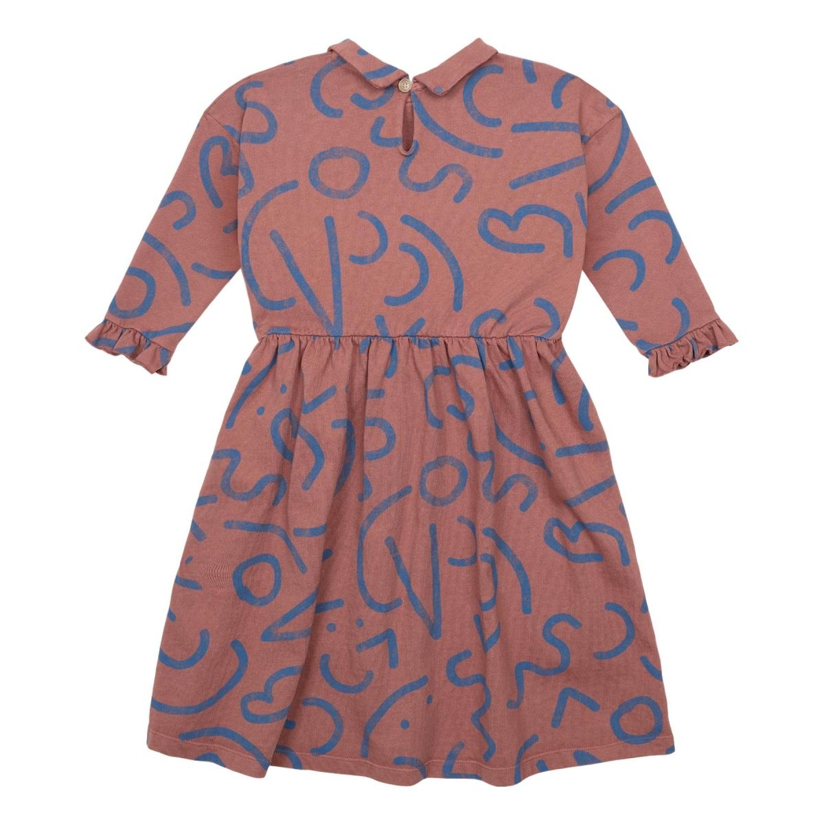 Bobo Choses - Curved Lines All Over Dress brown - 1