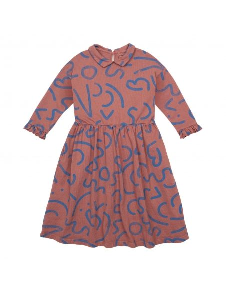 Bobo Choses - Curved Lines All Over Dress brown - 2