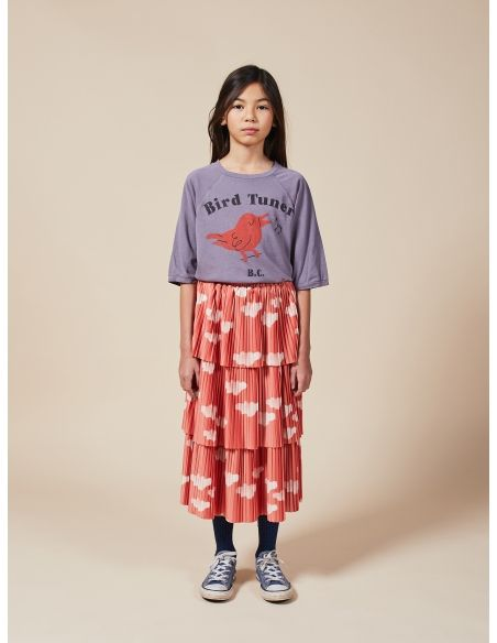 Bobo Choses - Clouds All Over Woven Skirt red - 2