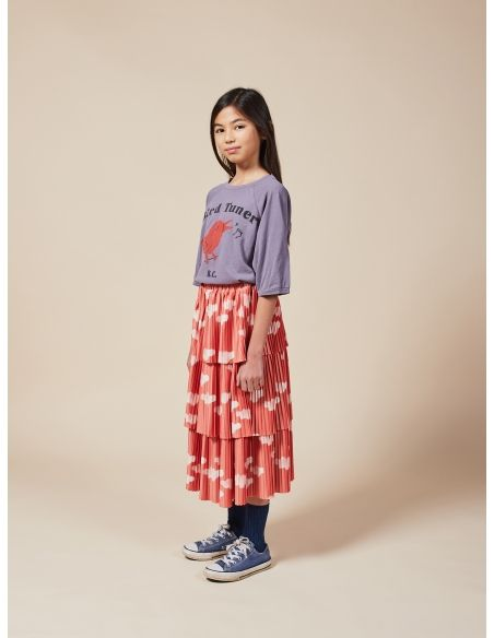 Bobo Choses - Clouds All Over Woven Skirt red - 4