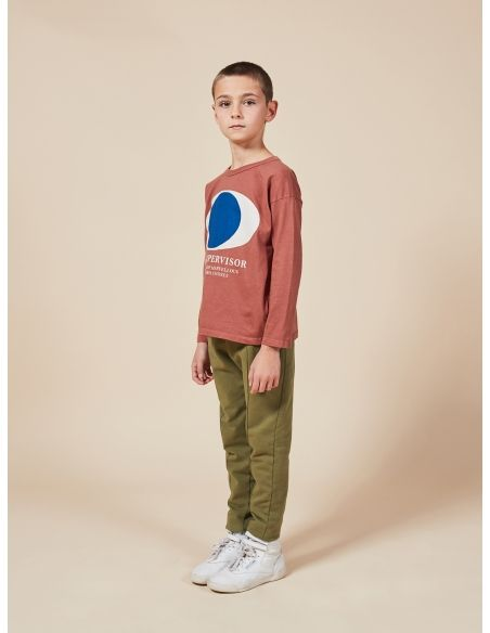Bobo Choses - Multicolor Stripes Embroidery Jersey Pants green - 5