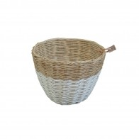 Basket rattan white
