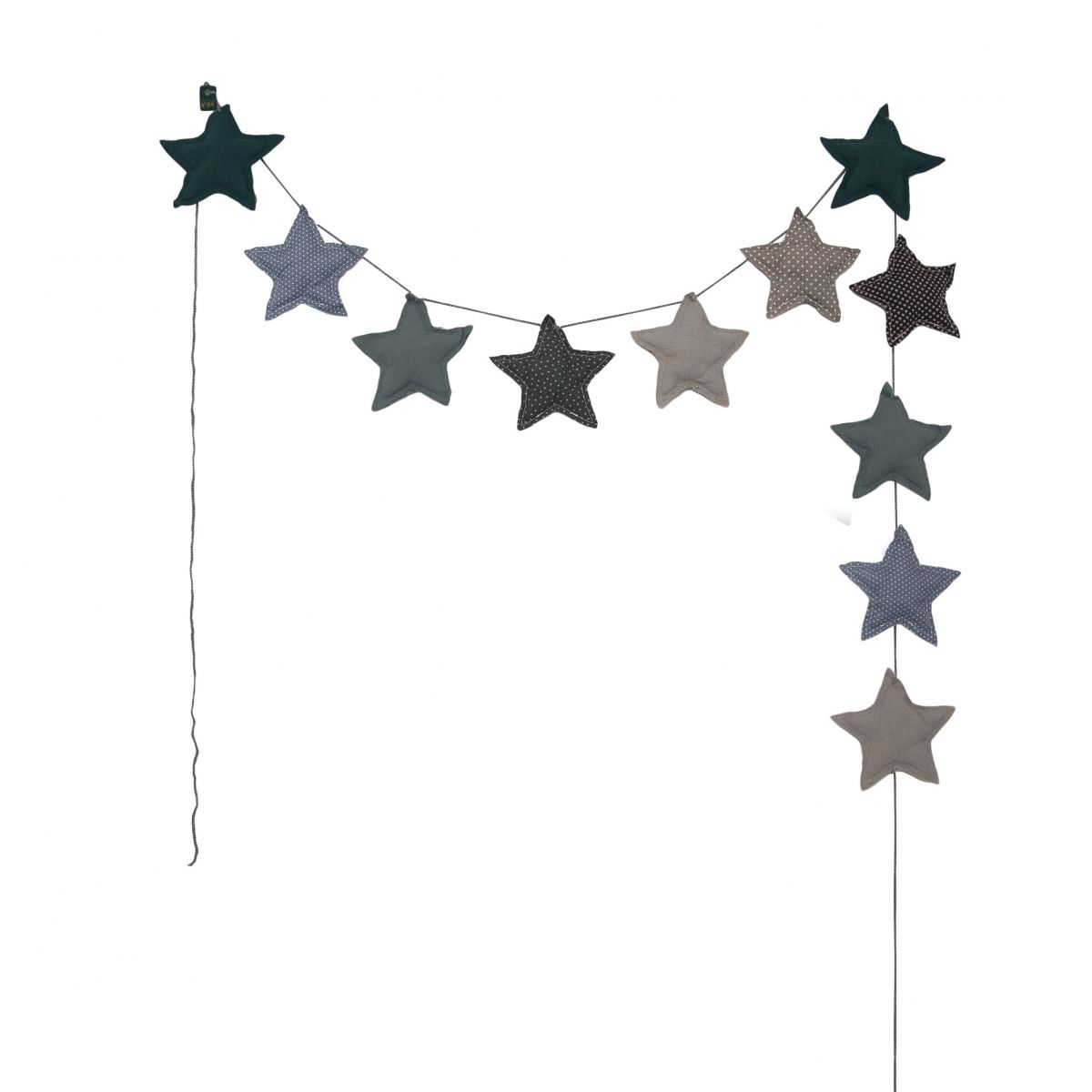 Numero 74 - Garland Mini Star mix blue - 1