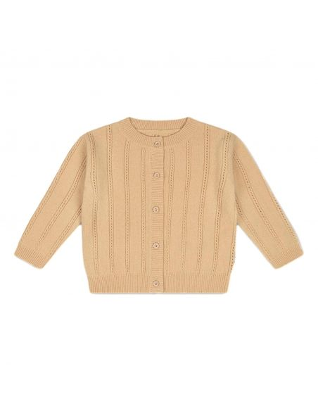 Repose AMS - Knit Round Neck Cardigan vintage cream - 1