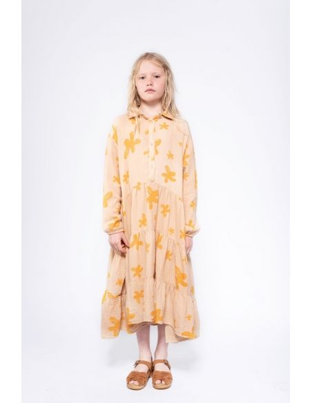 Repose AMS - Shirt Dress Maxi scribble flower - 5
