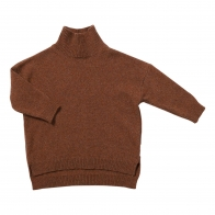 Knit sweater wacky wallaby brown