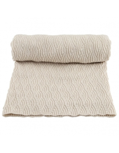 Konges Slojd - Blanket Pointelle ecru - 1