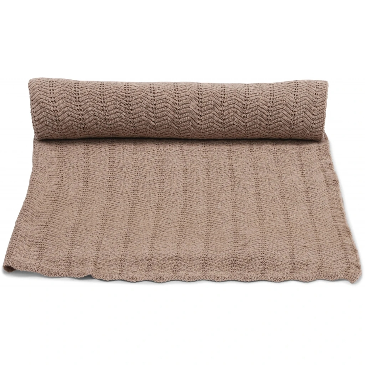 Konges Slojd - Blanket Pointelle Deux brown melange - 1
