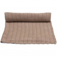 Blanket Pointelle Deux brown melange