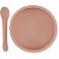 Bowl & Spoon Silicone Set Rose