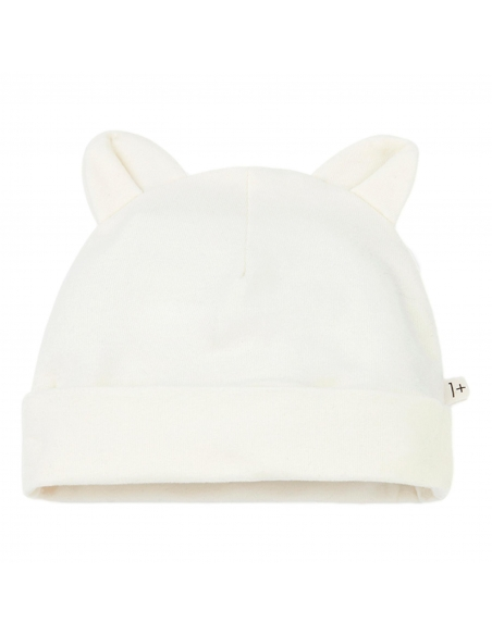 1 + in the family - Leo Beanie With Ears ecru - 1