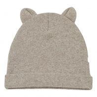Mull Beanie With Ears beige