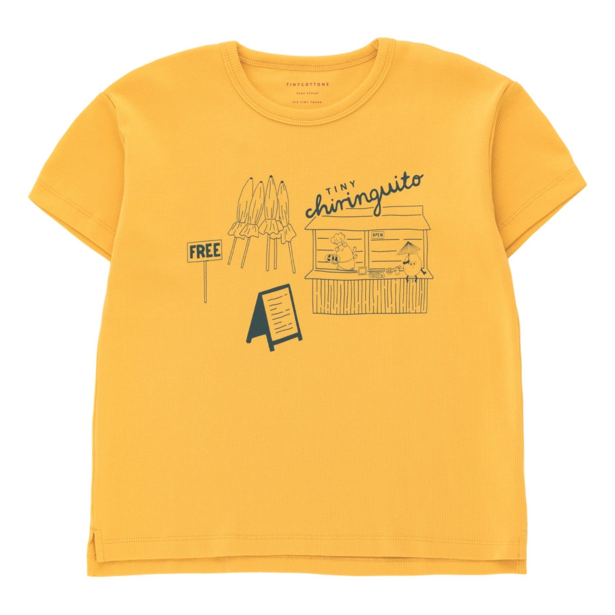 Tiny Cottons - Central Beach Tee yellow - 1