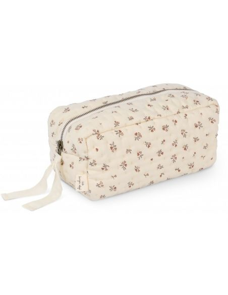 Konges Slojd - Quilted Toilery Bag Petit Amour Rose - 1