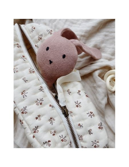Konges Slojd - Quilted Toilery Bag Petit Amour Rose - 2