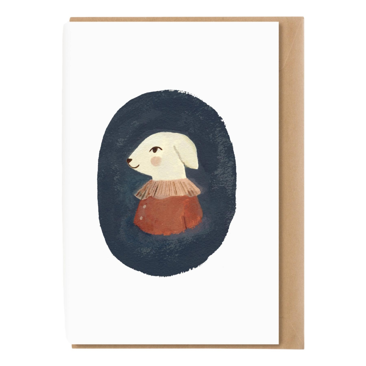 Main Sauvage - A5 card with envelope Lamb - 1