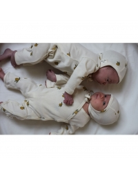 Konges Slojd - New Born Onesie Lemon white - 2