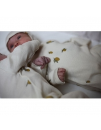 Konges Slojd - New Born Onesie Lemon white - 3