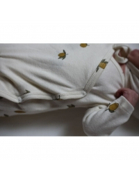 Konges Slojd - New Born Onesie Lemon white - 5