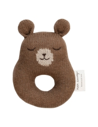 Main Sauvage - Rattle Teddy brown - 1