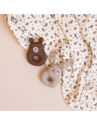 Main Sauvage - Rattle Teddy brown - 2