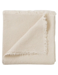 Garbo & Friends - Ecru Waffle Cotton Blanket - 1