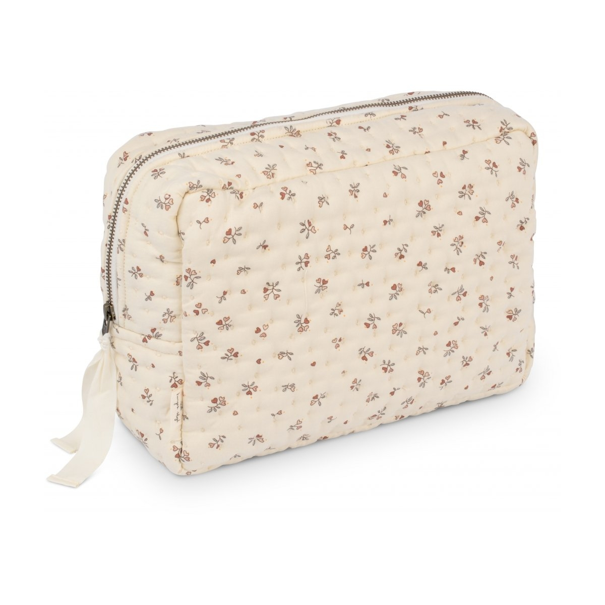 Konges Slojd - Big Quilted Toilery Bag Petit Amour Rose - 1